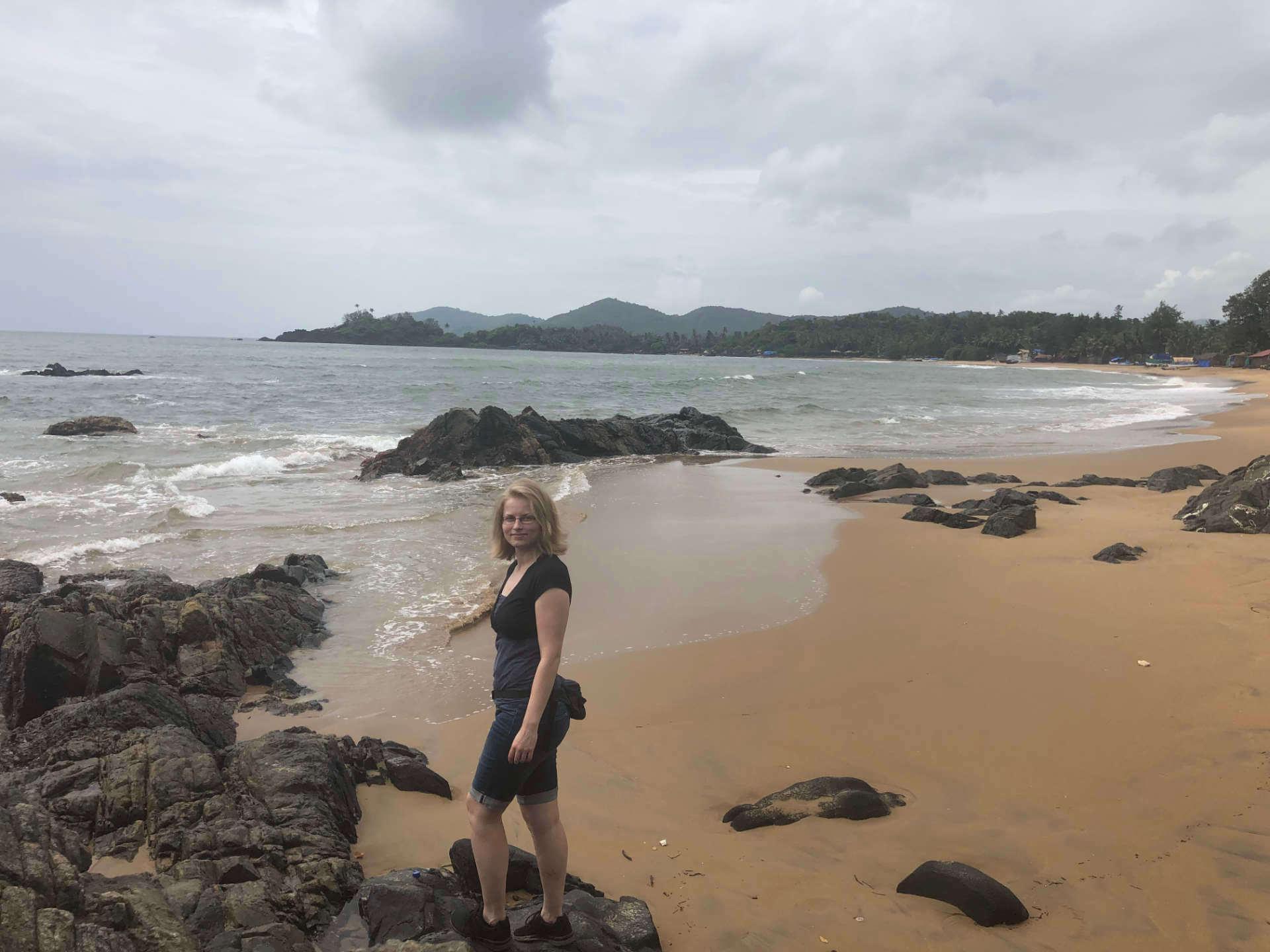 Indien Goa Patnem Beach und Taschi