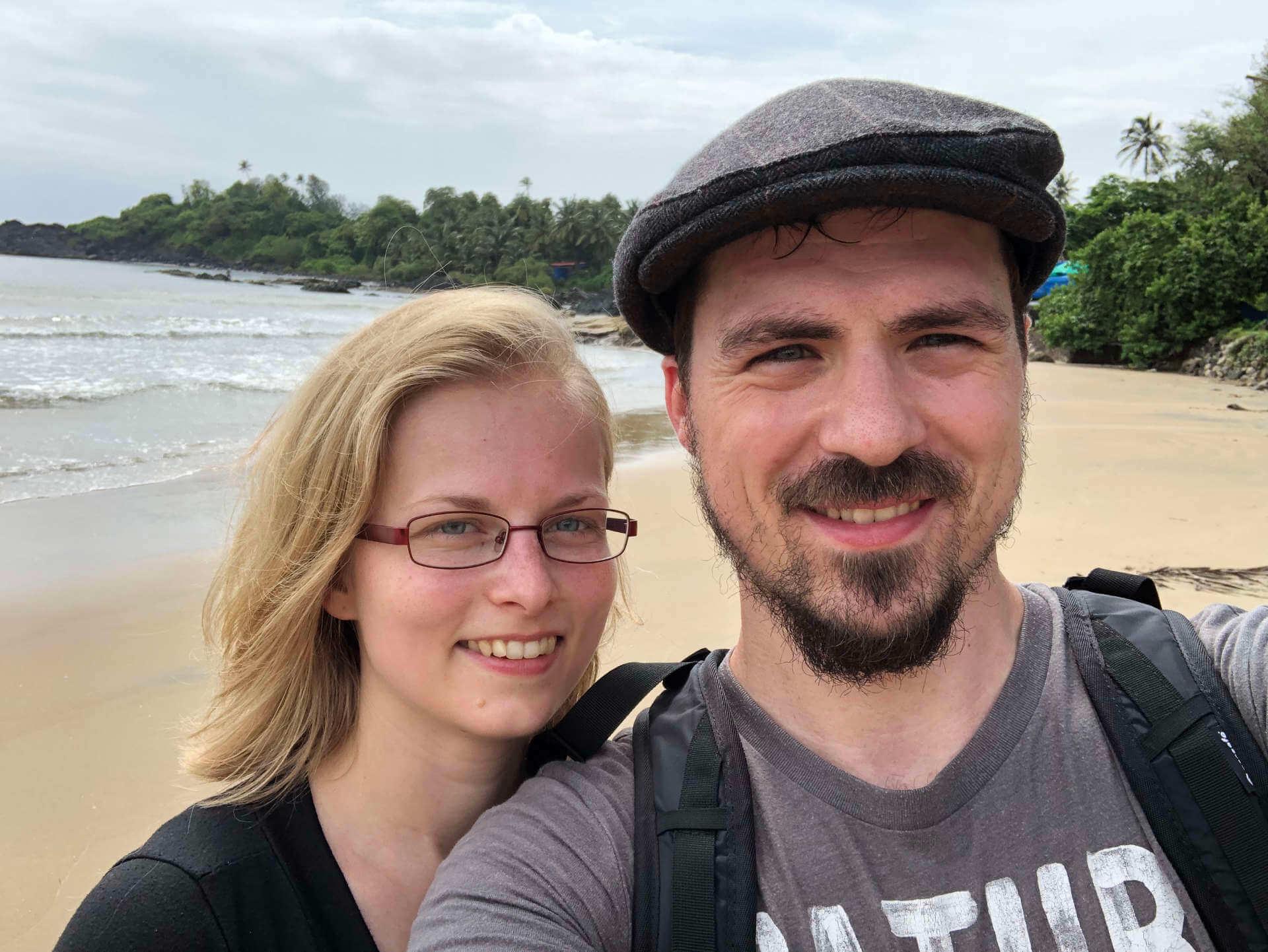 Indien Goa Patnem Beach Selfie