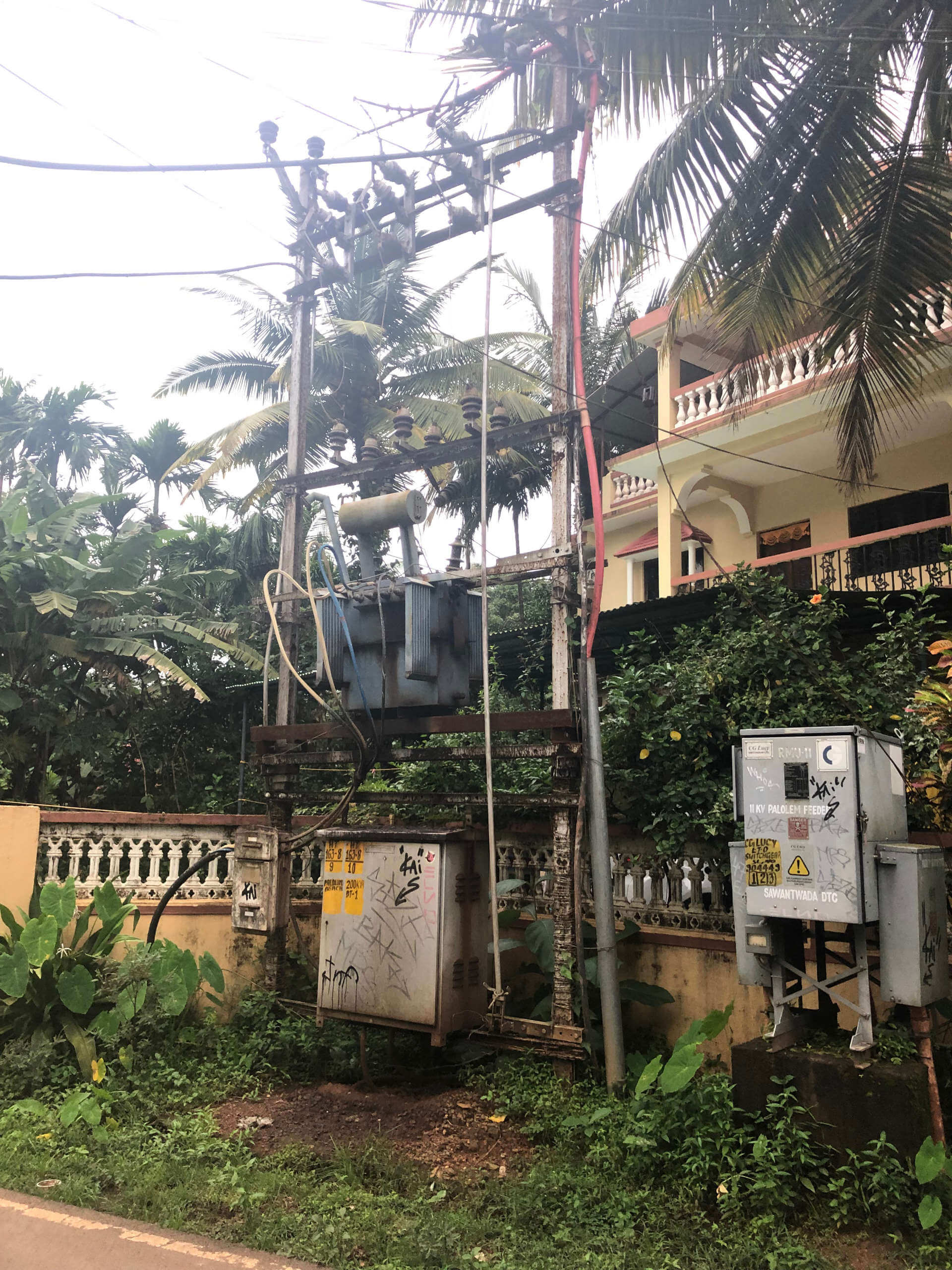 Indien Goa Palolem Trafostation