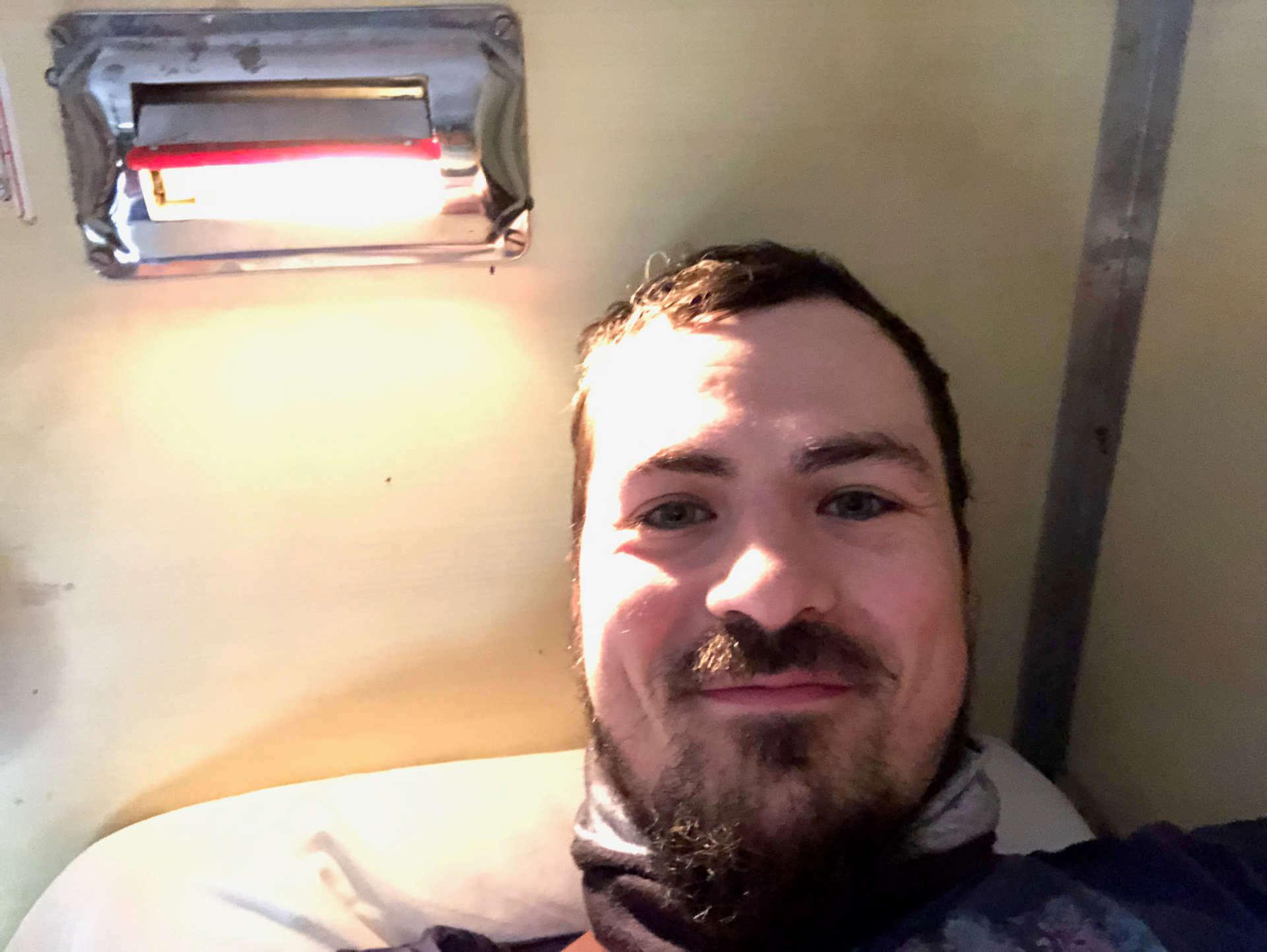 Leselampe im Zug AC2