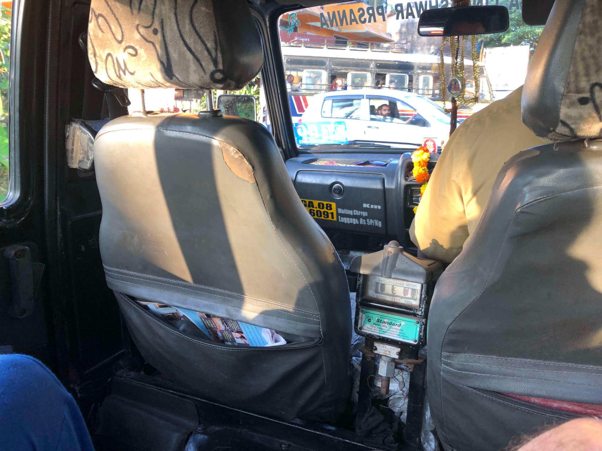Indien Margao Taxifahrt