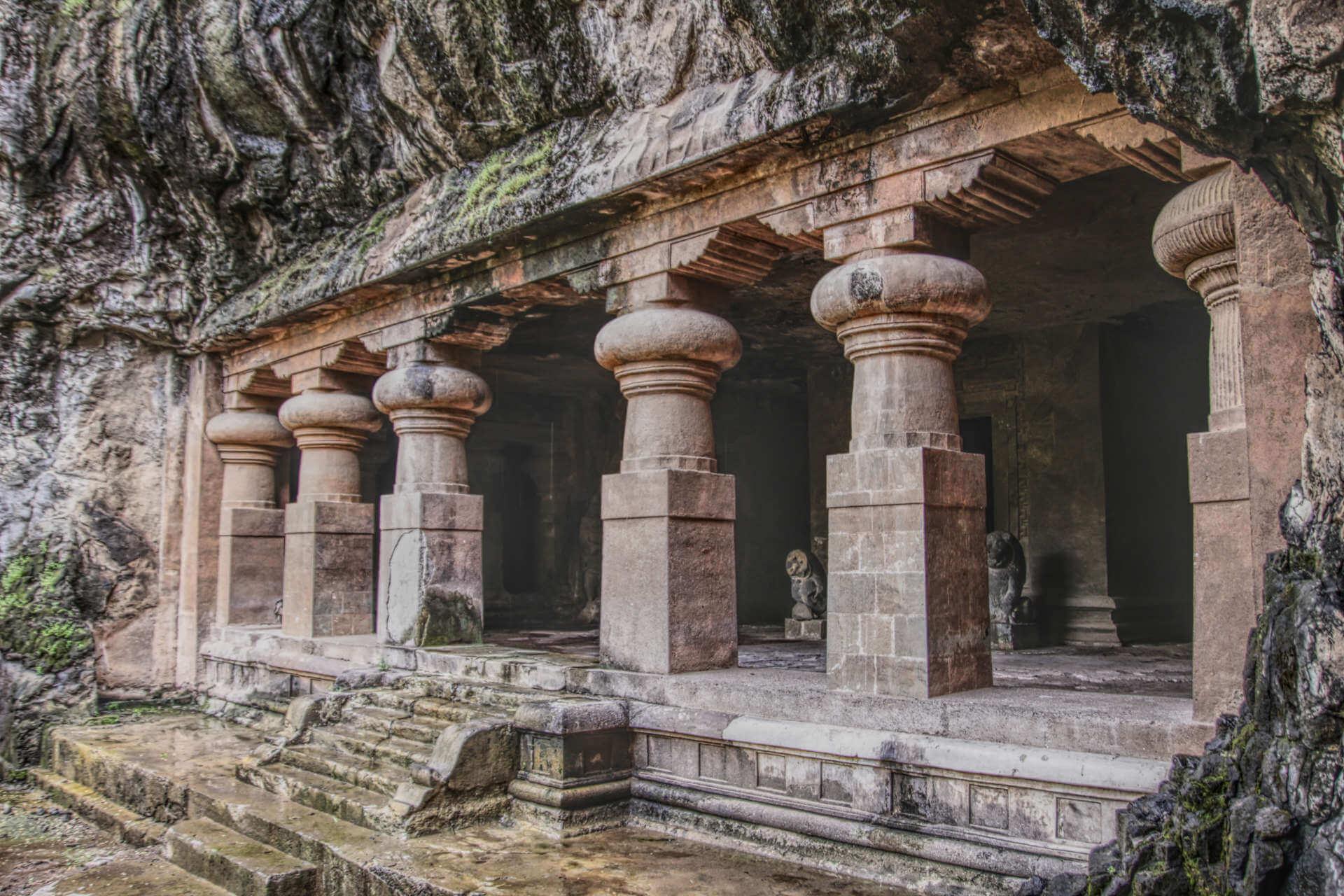 Indien Mumbai Elephanta Island Höhle
