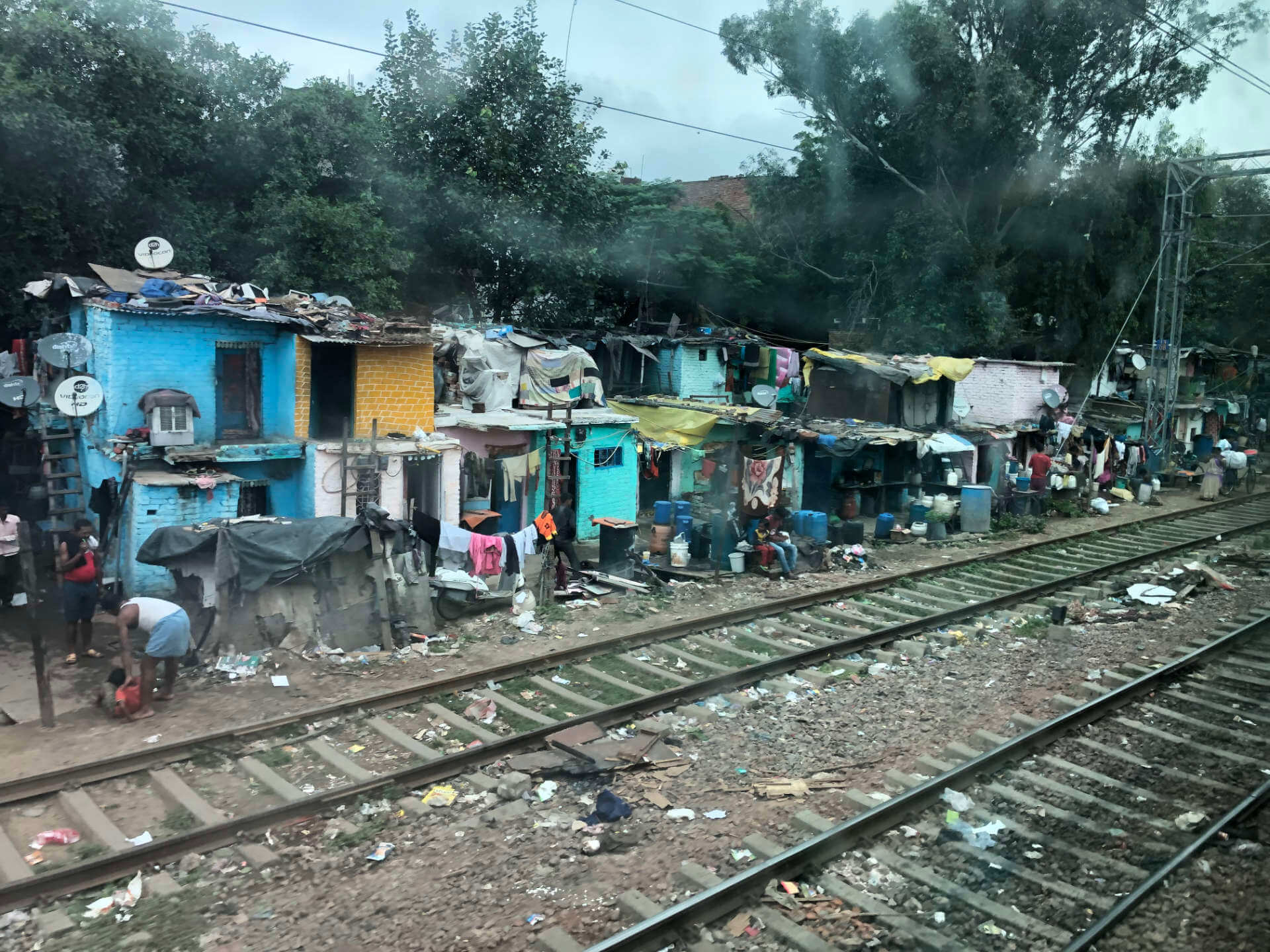 Neu-Delhi aus dem Zug