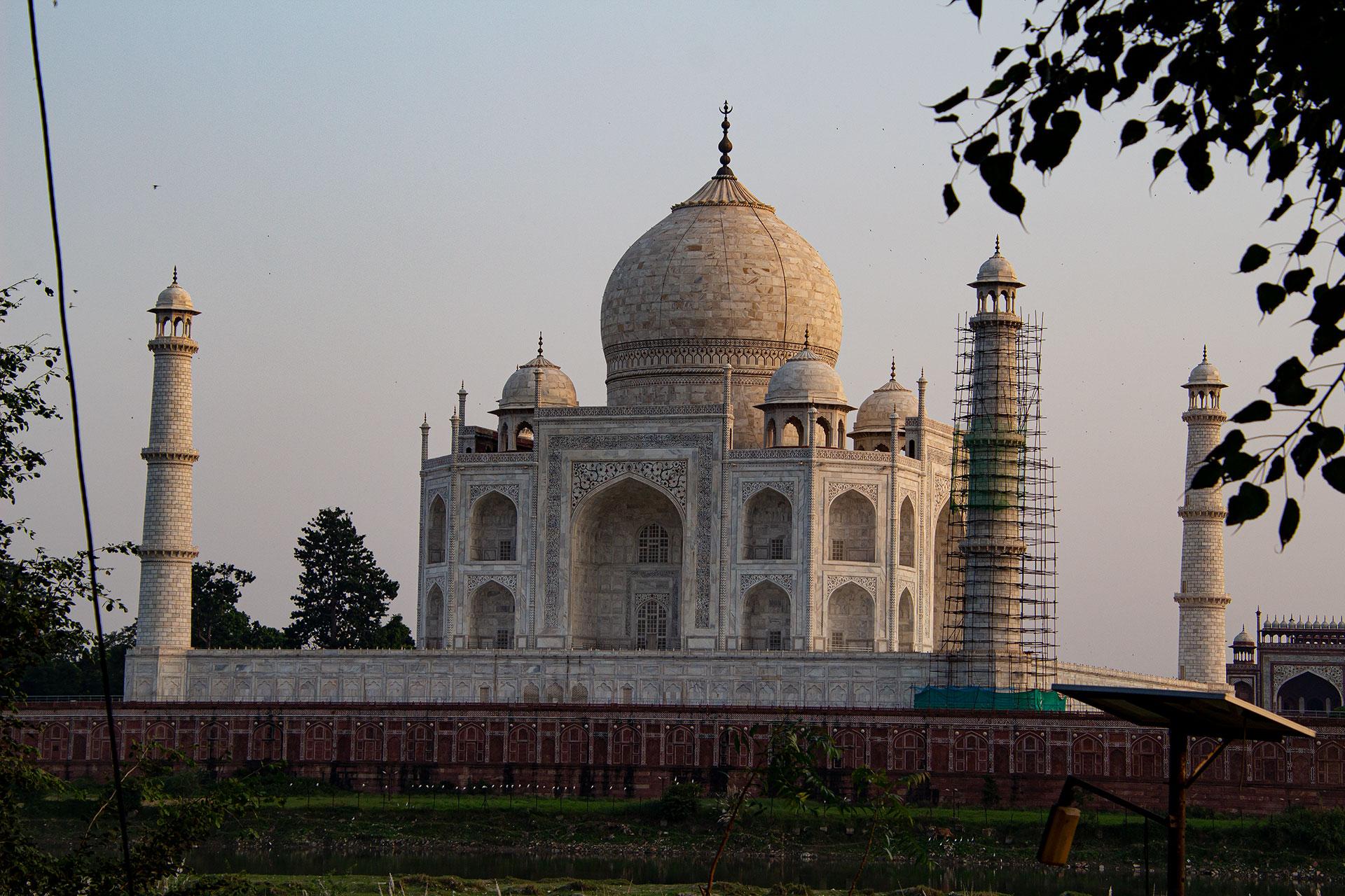 Taj Mahal beim Sonnenuntergang