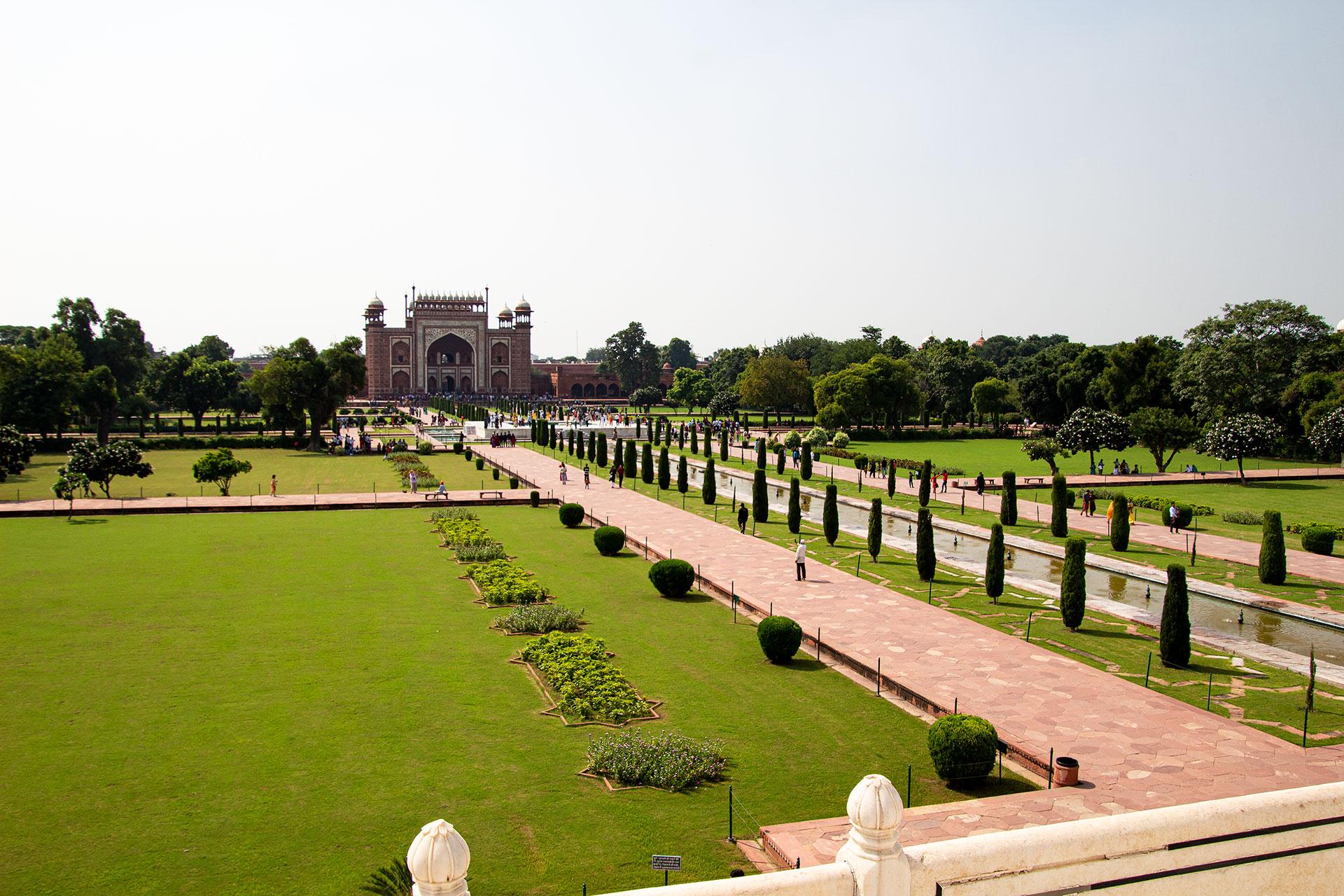 Park des Taj Mahals