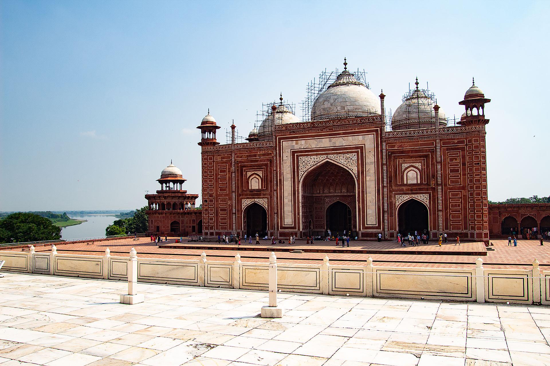 Gästehaus beim Taj Mahal