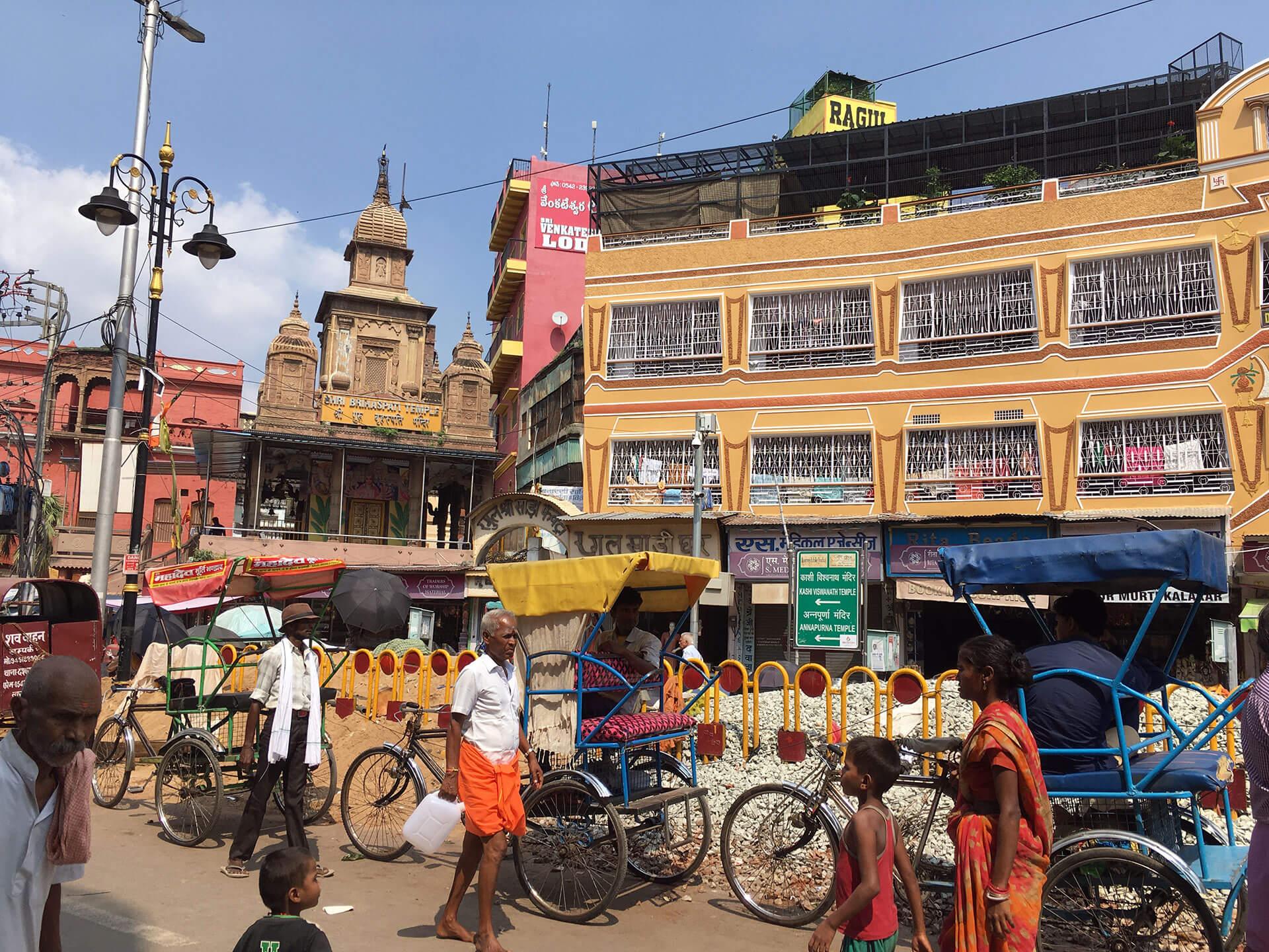 Varanasis Innenstadt