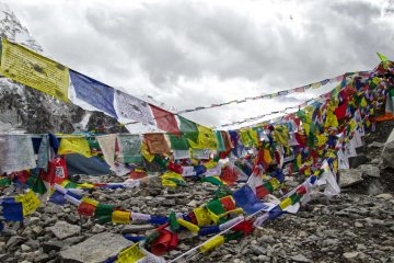 Gebetsflaggen am Everest Base Camp