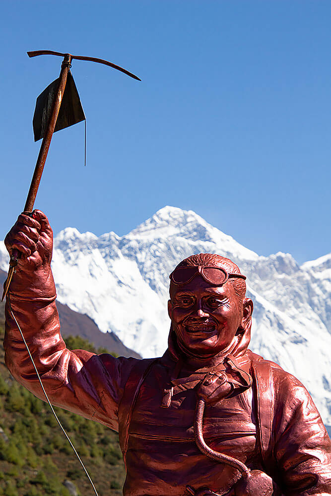 Namche Bazar - Blick auf den Mt. Everest
