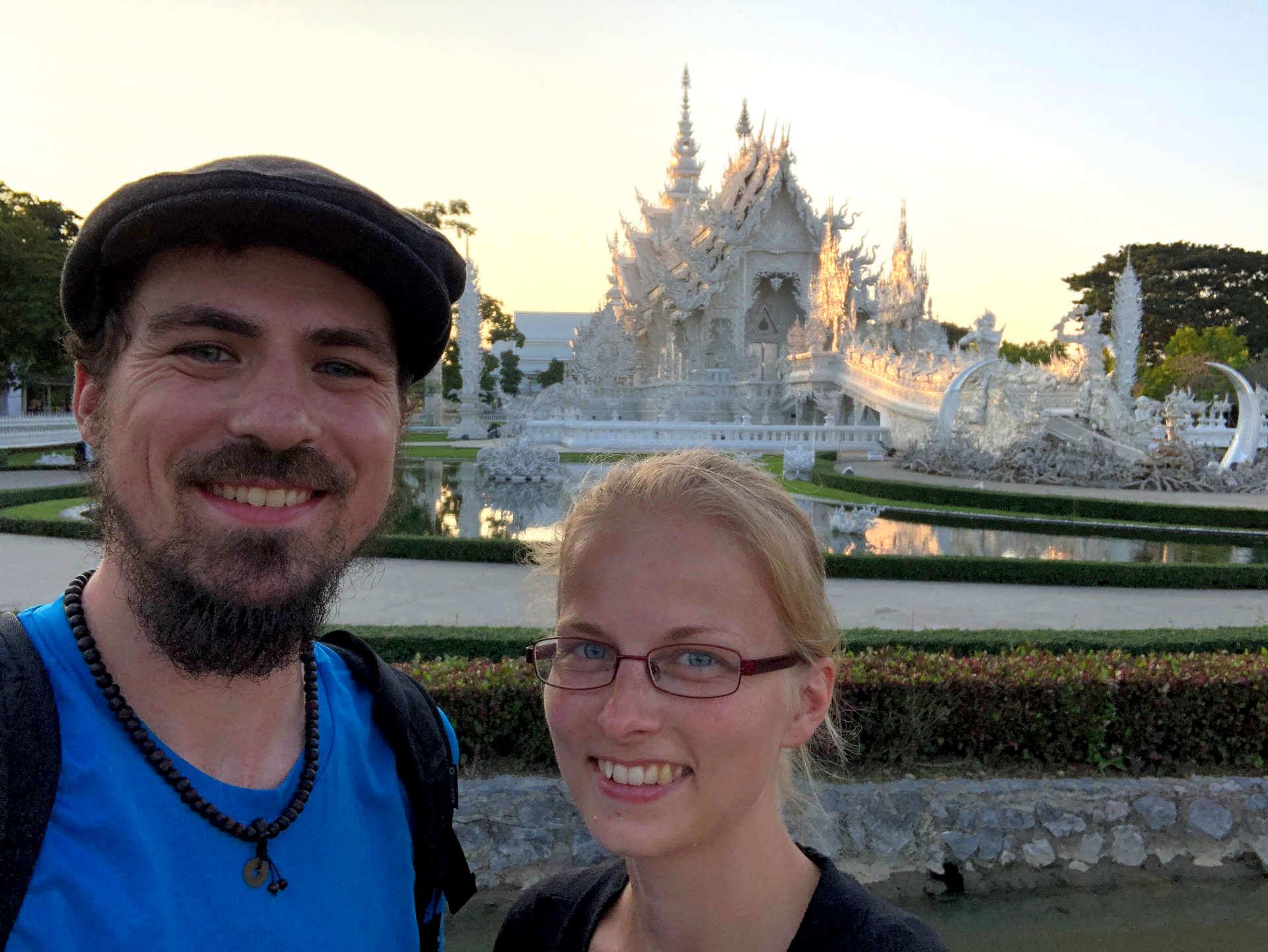 Wat Rong Khun (Weißer Tempel) Selfie
