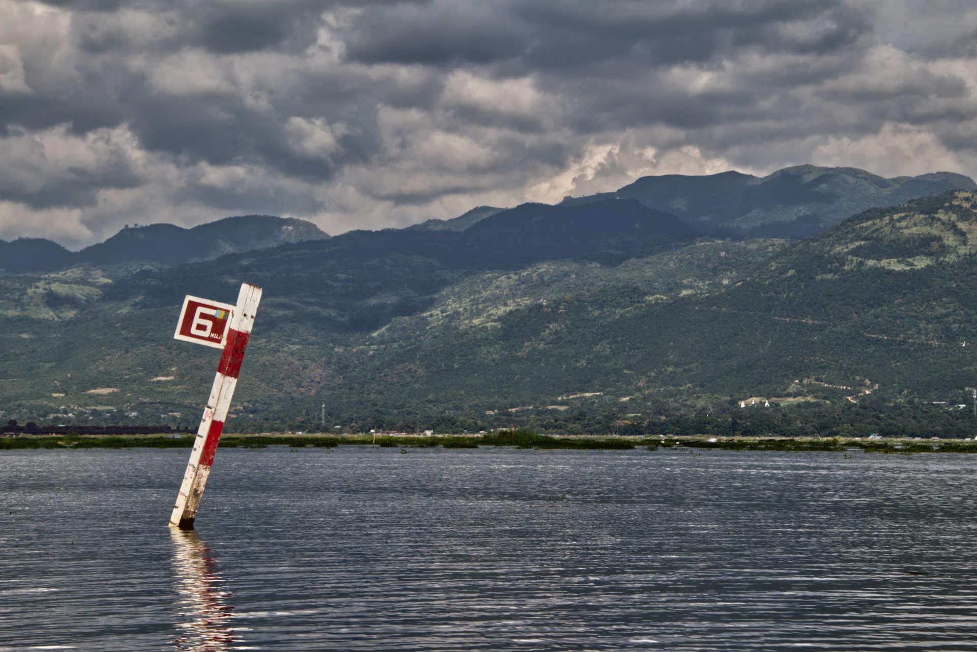 Myanmar Inle Lake Wasserlandschaft