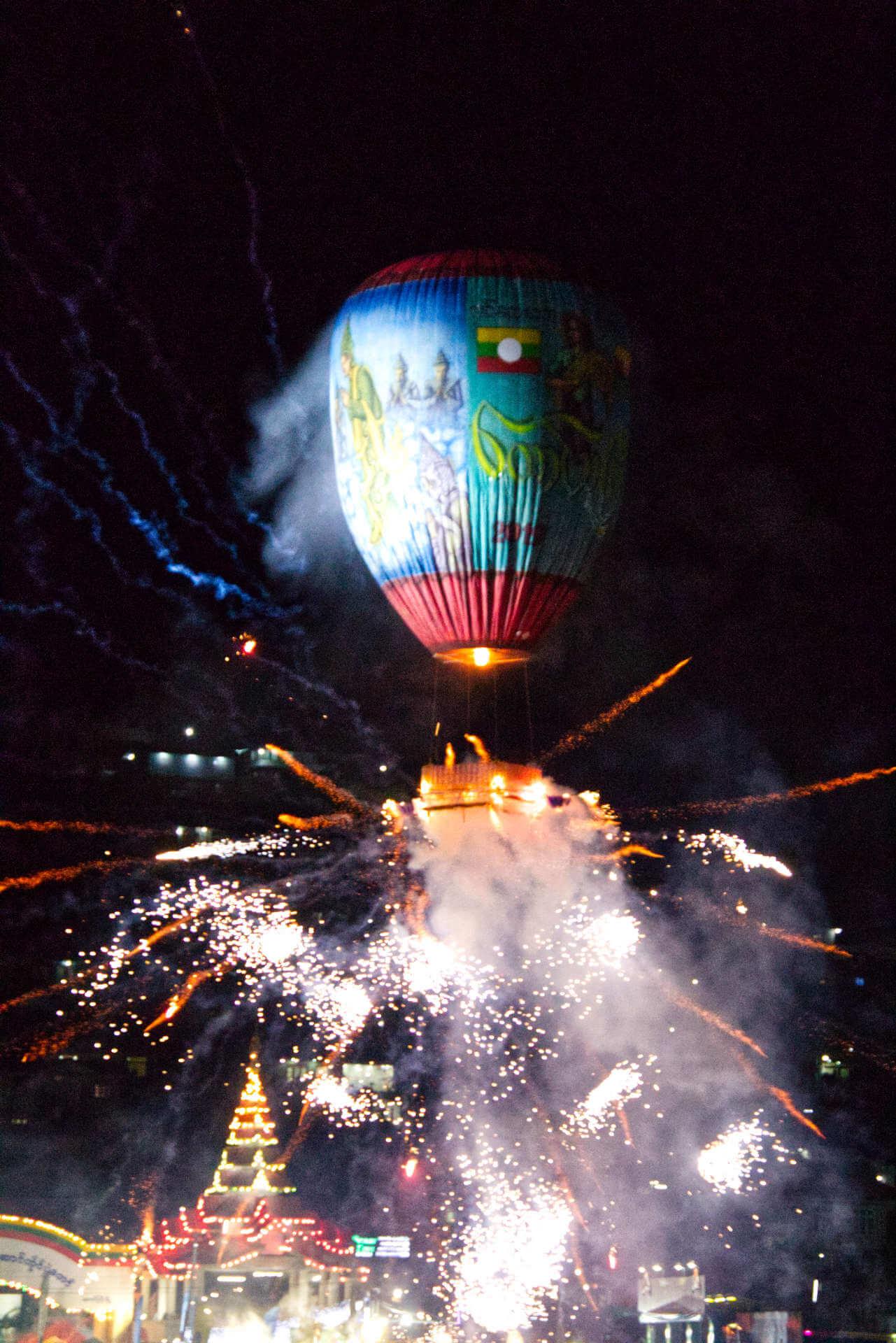 Myanmar Taungyi Balloon Festival