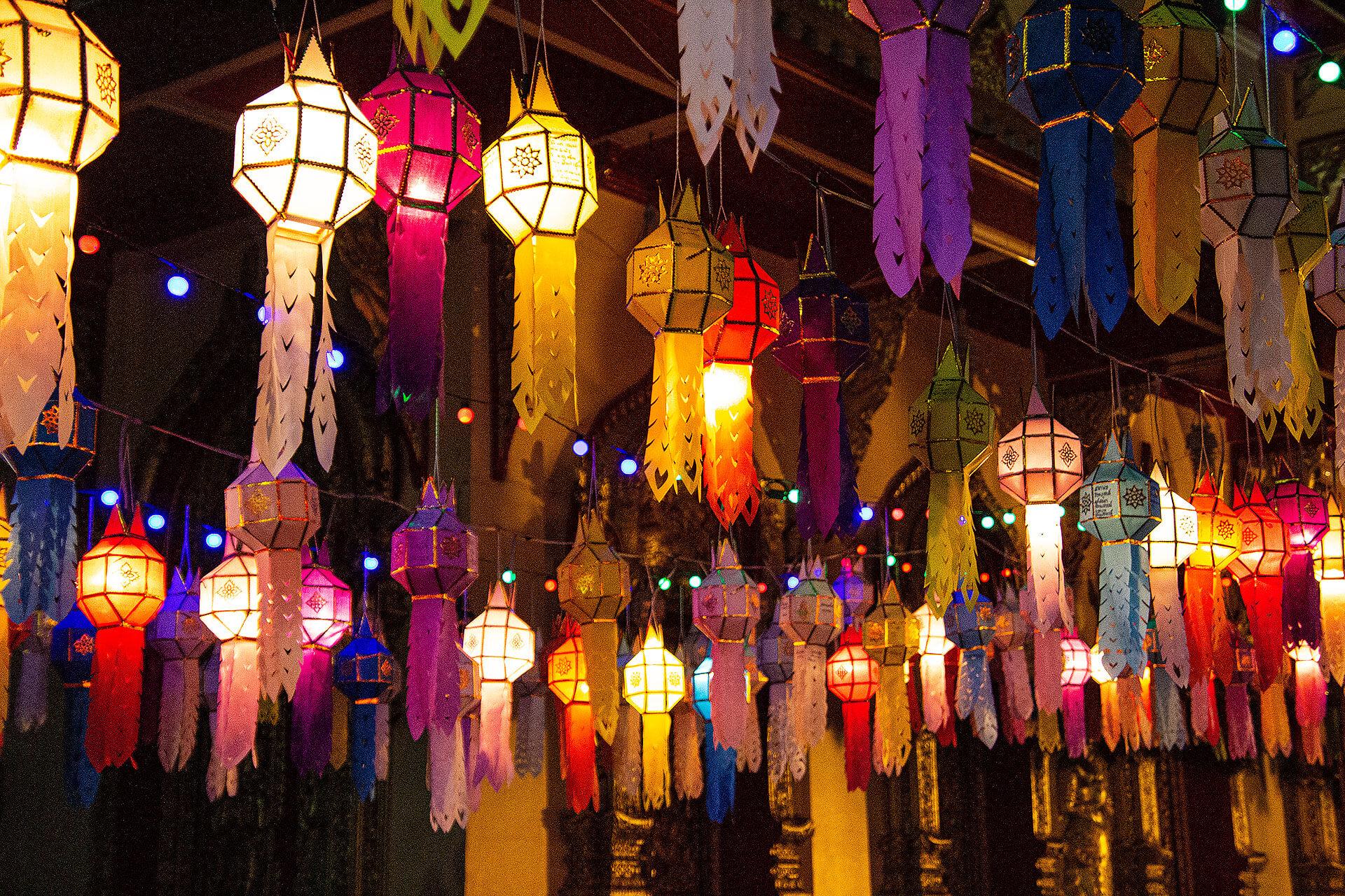 Laternen beim Loy Krathong