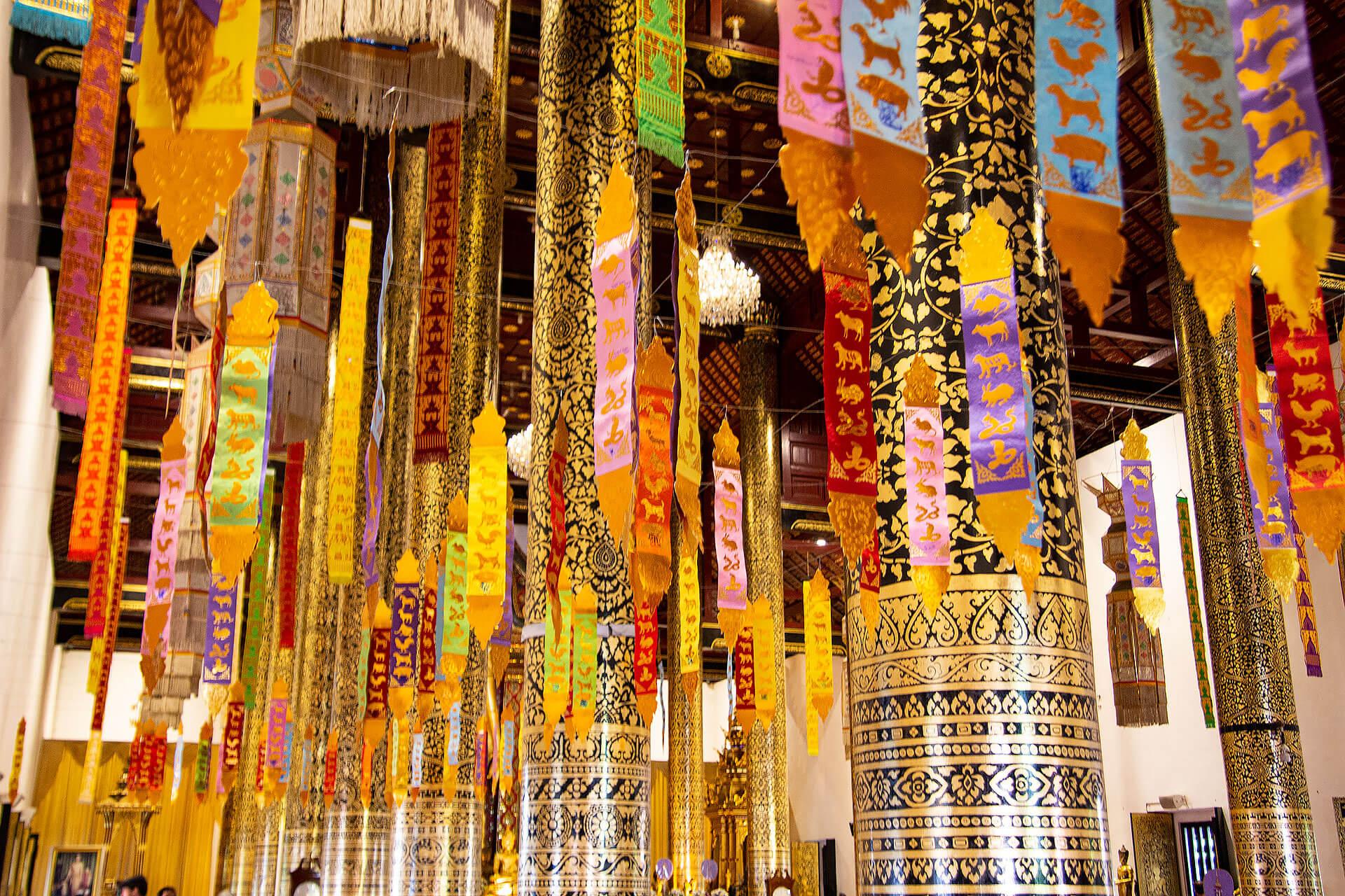 Im Inneren des Wat Chedi Luang