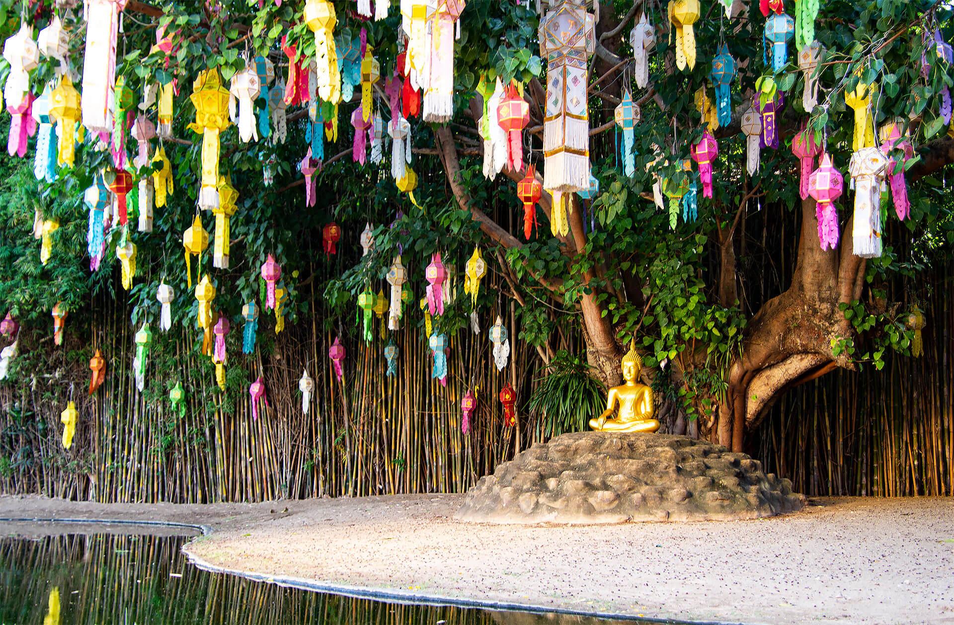 Buddha am Wat Phan Tao
