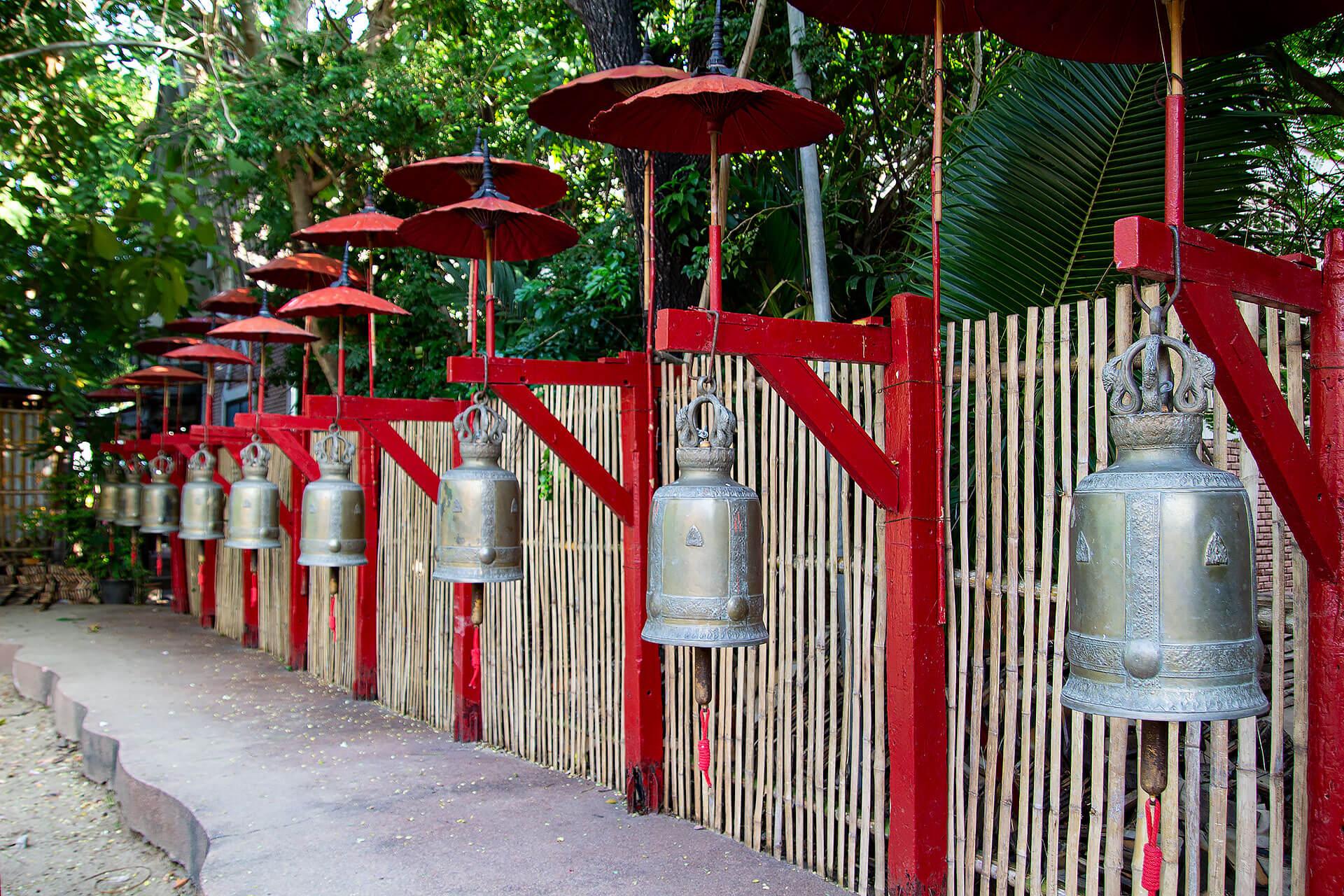 Glocken am Wat Phan Tao