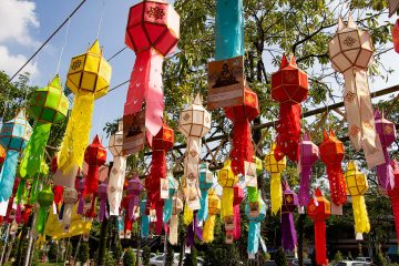 Laternen am Wat Phra Singh