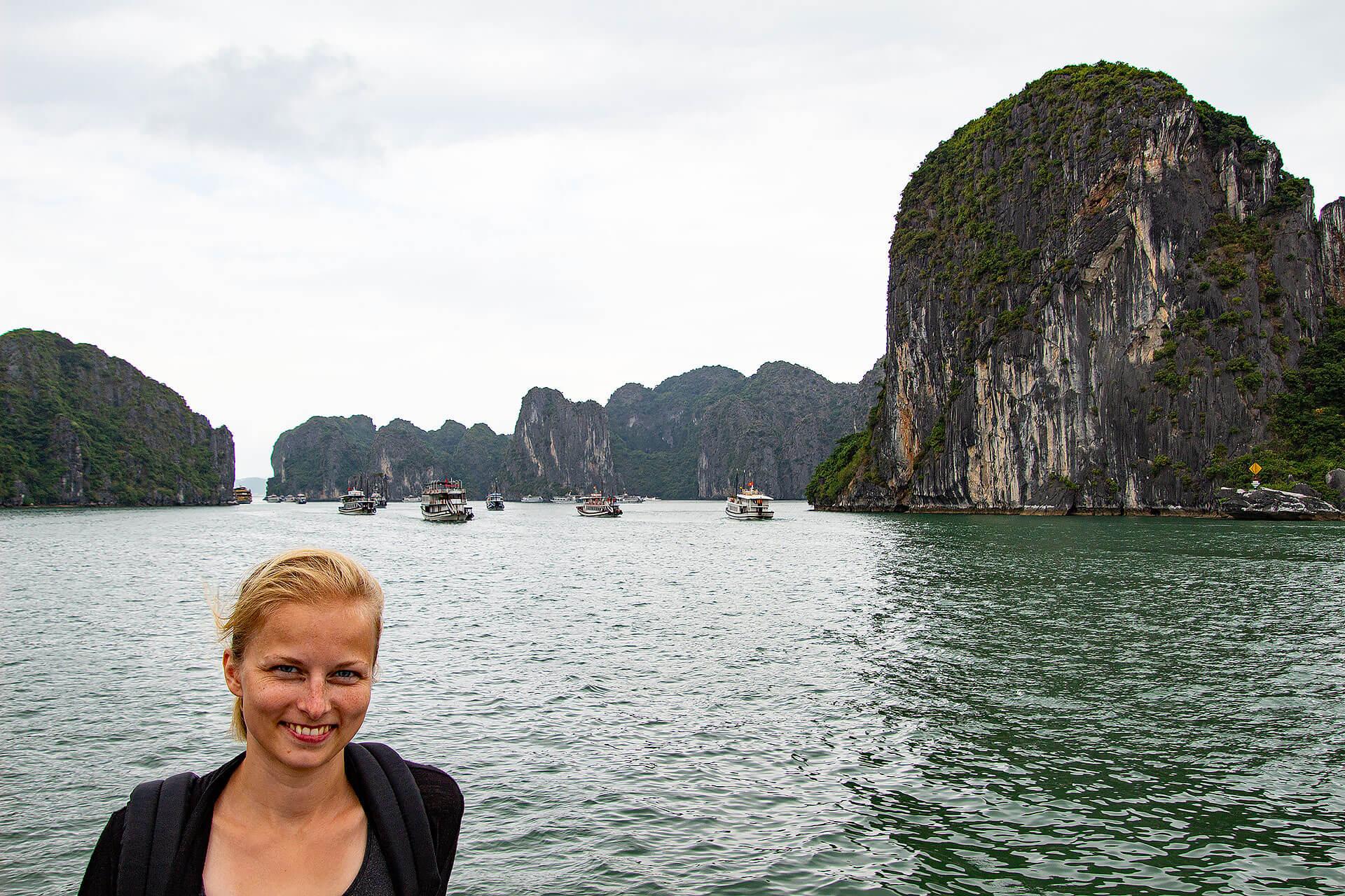 Taschi in der Halong Bucht in Vietnam