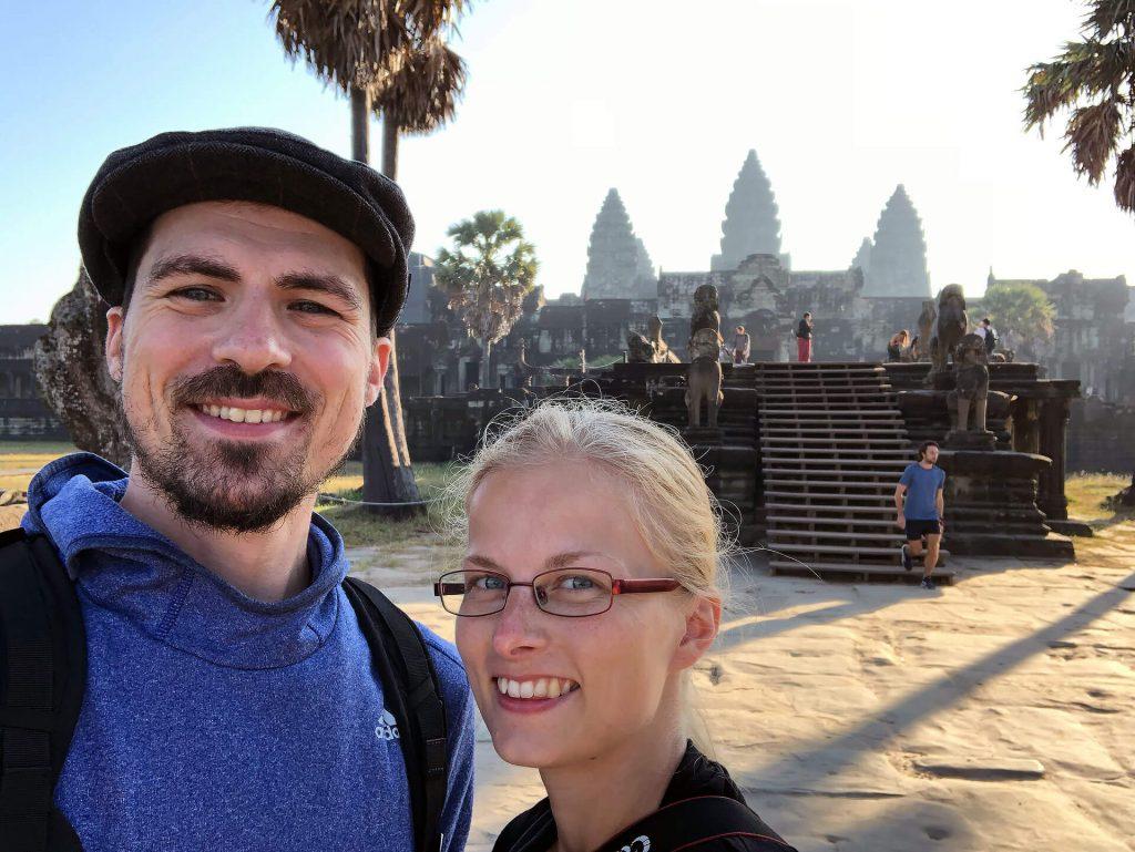 Berti und Taschi in Angkor Wat