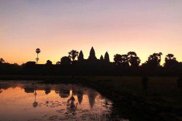 Ankor Wat beim Sonnenaufgang