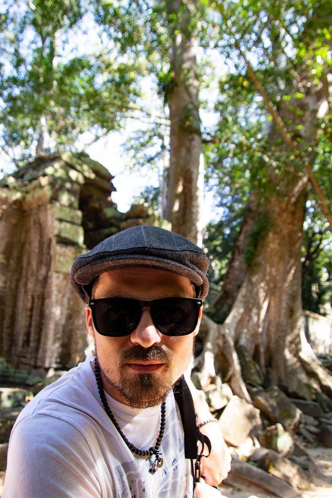 Angkor Wat - Berti beim Ta Prohm