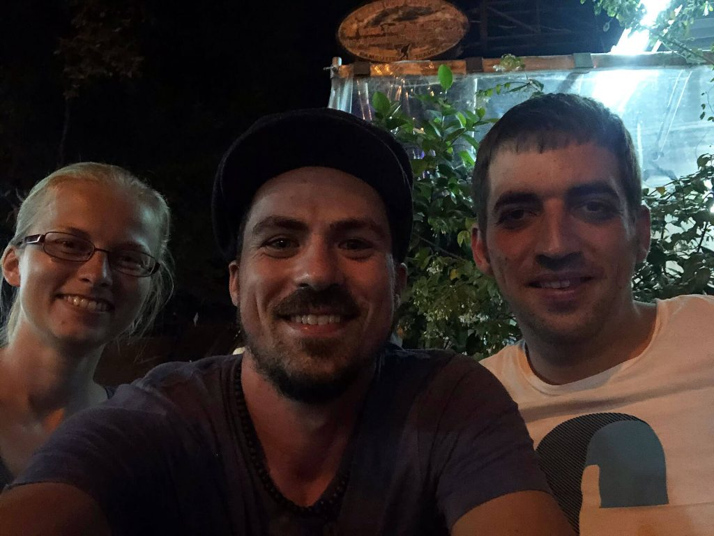 Taschi, Berti und Jens in Bangkok