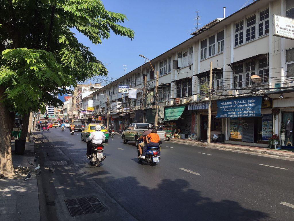 Auf den Straßen in Bangkok