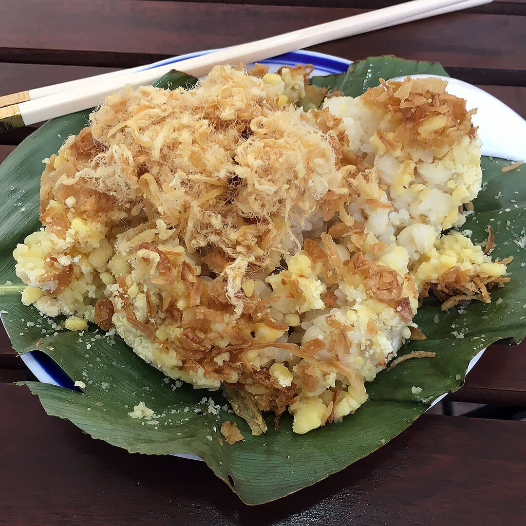 Sticky Rice mit Mais