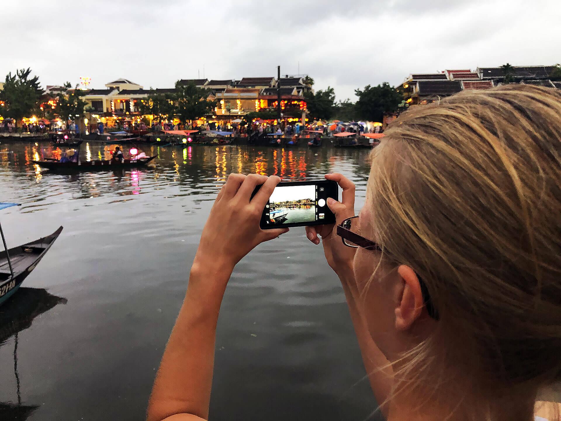 Thu Bon Fluss in Hoi An