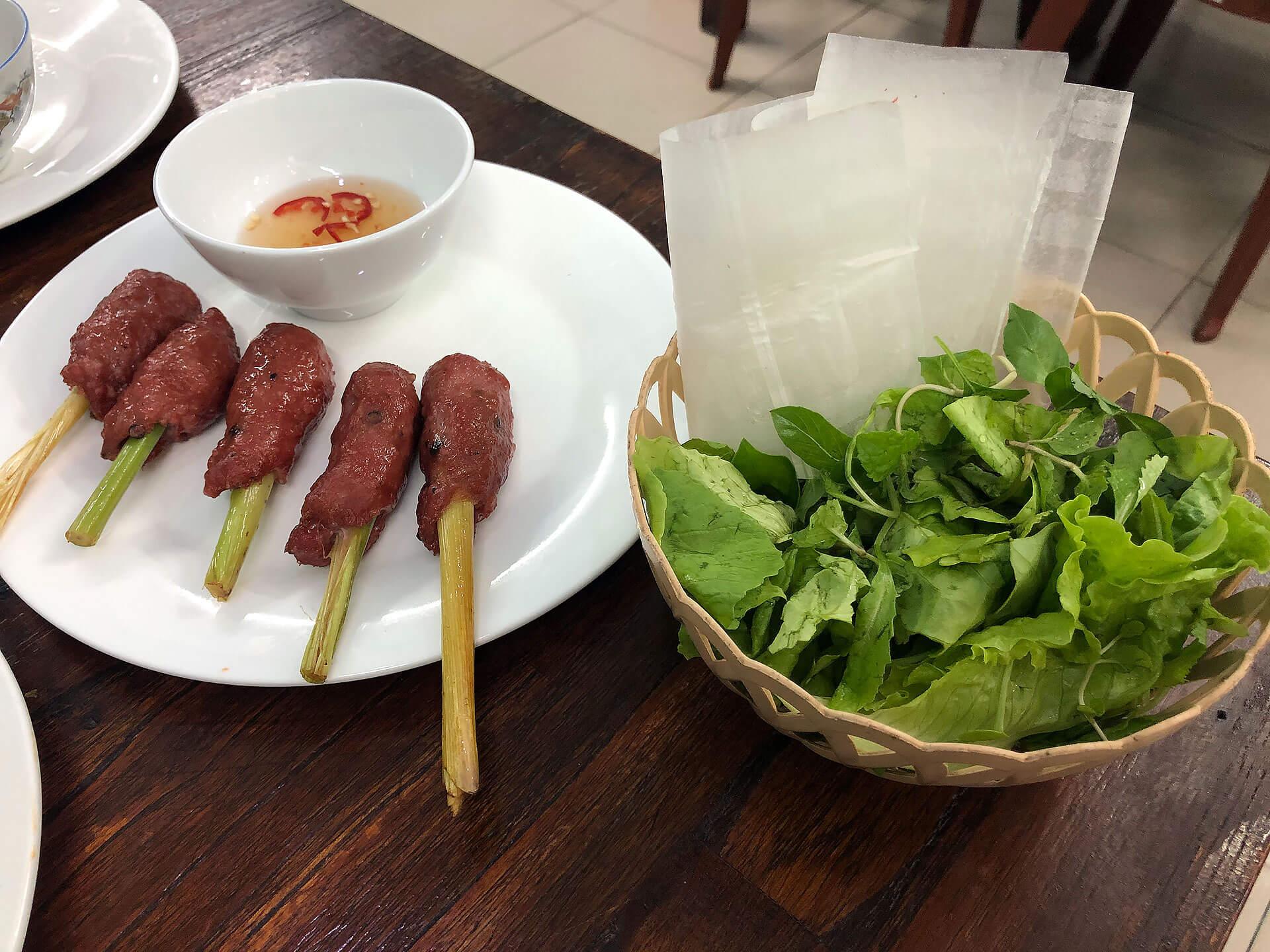 Meatball Satay Nem Lui