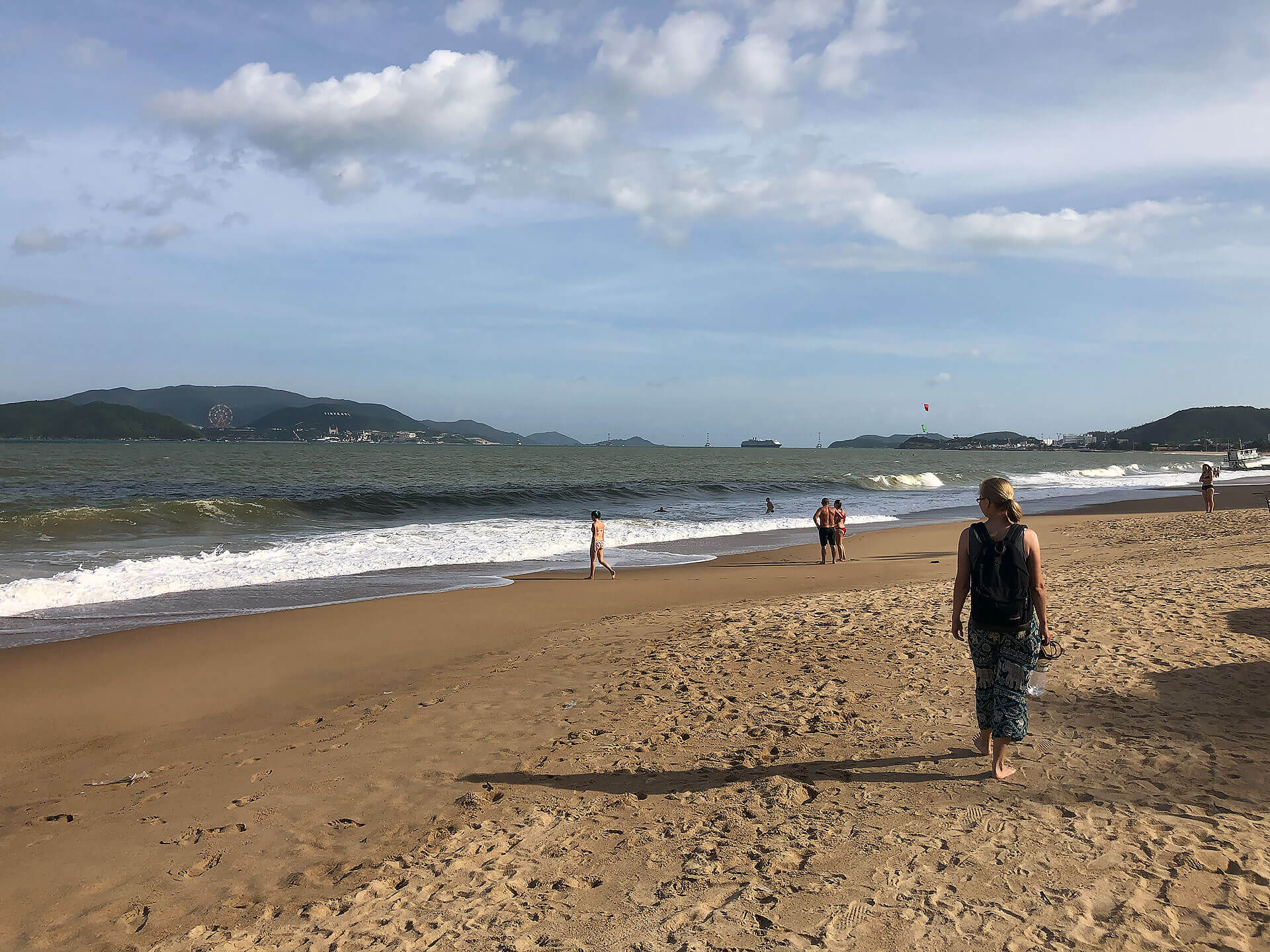Am Strand von Nha Trang - Taschi