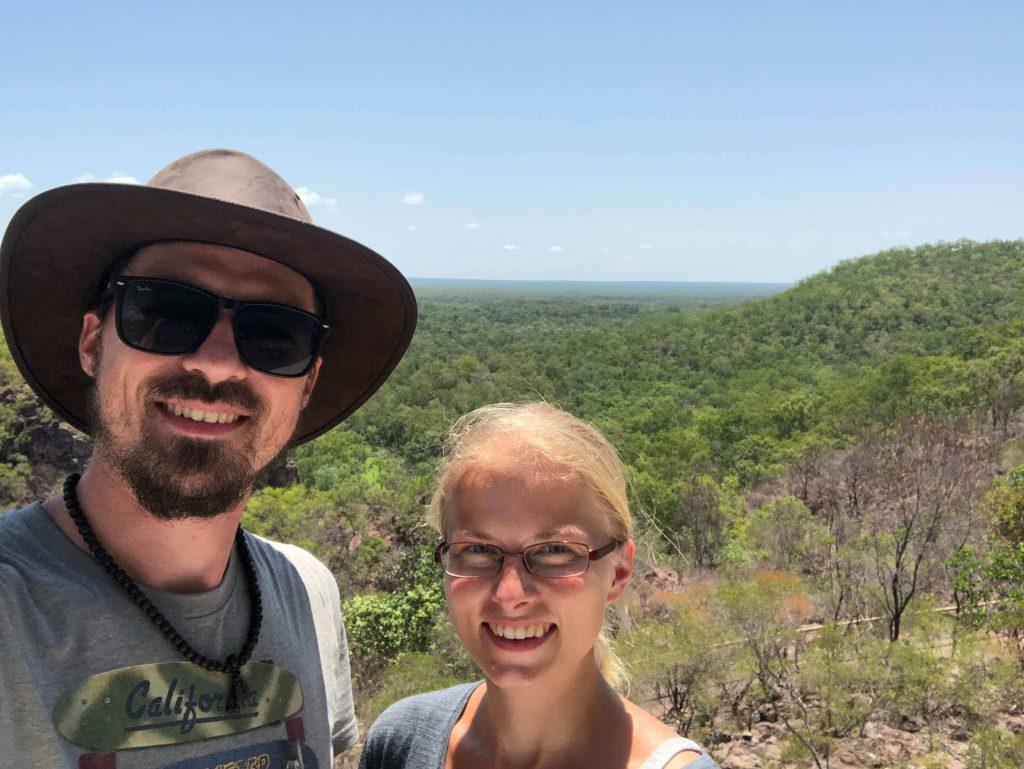 Berti und Taschi Selfie bei den Tonga Falls im Litchfield National Park