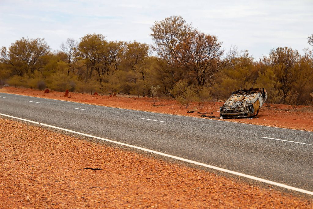 Auto-Wrack im Outback von Australien