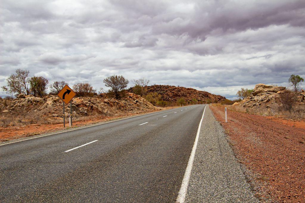 Straße im Outback