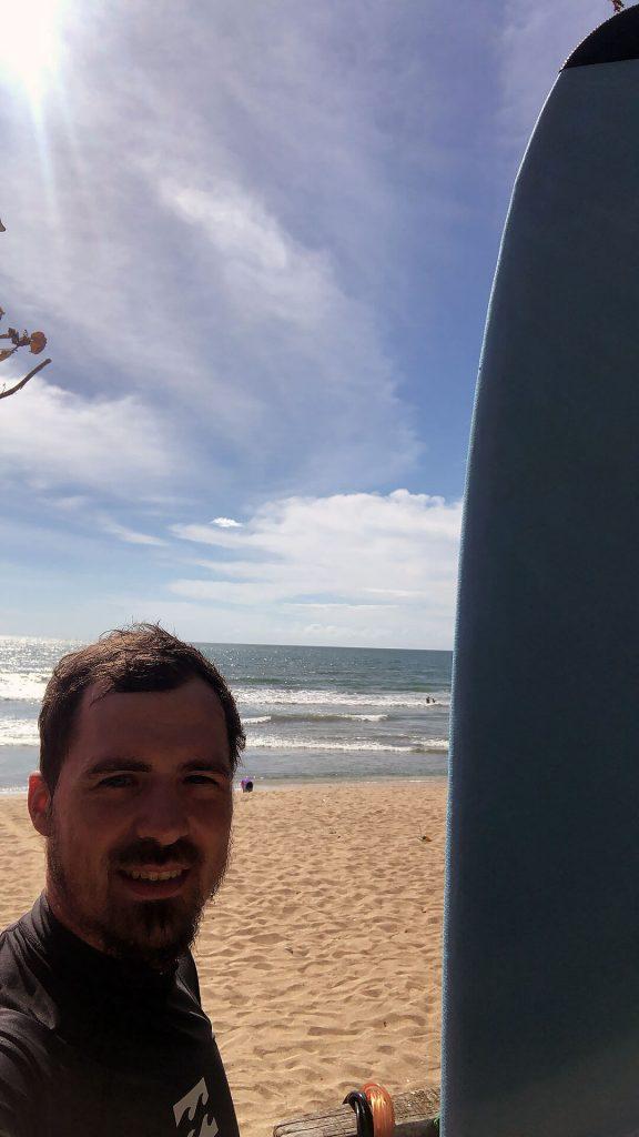 Berti beim Surfen in Kuta