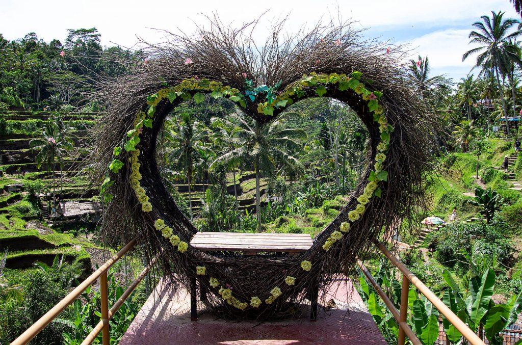Herz bei den Reisterassen von Tegallalang