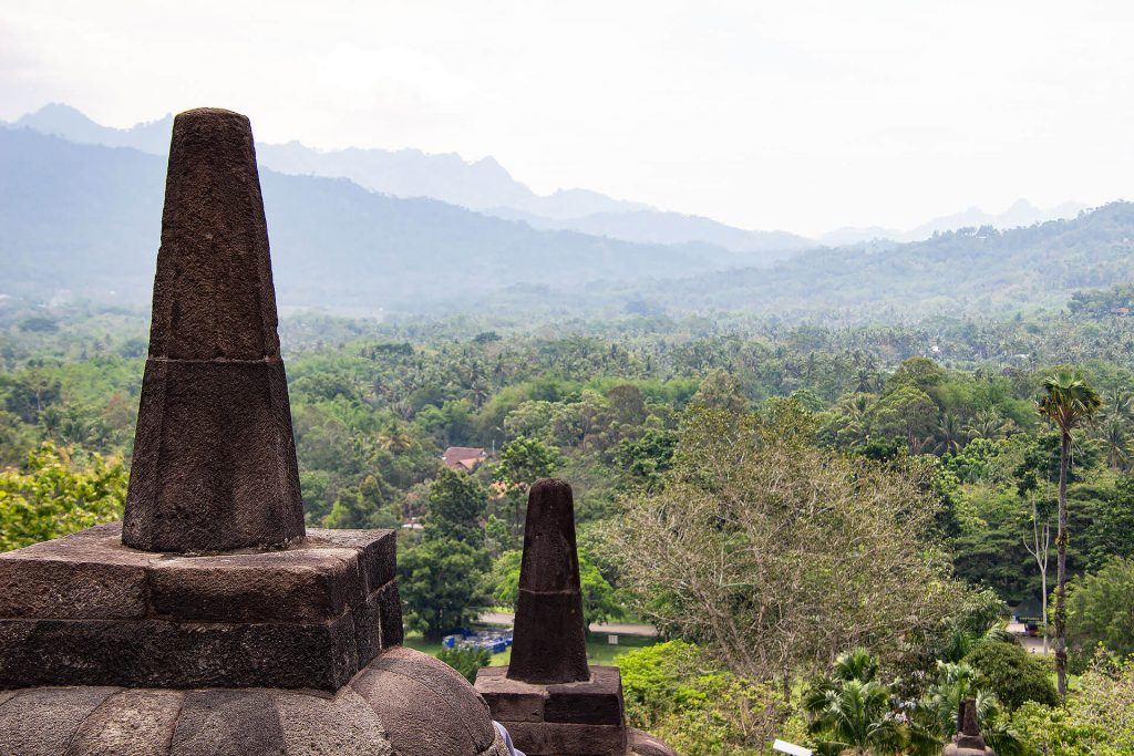 Aussicht vom Borobudur-Tempel