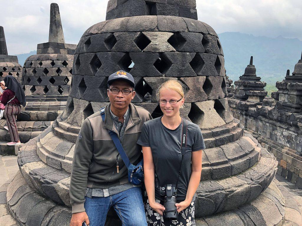 Fotoshooting beim Borobudur-Tempel