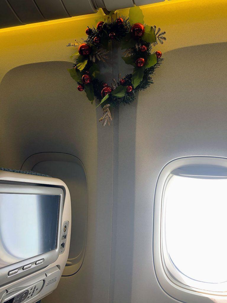 Im Flugzeug von Singapur nach Jakarta