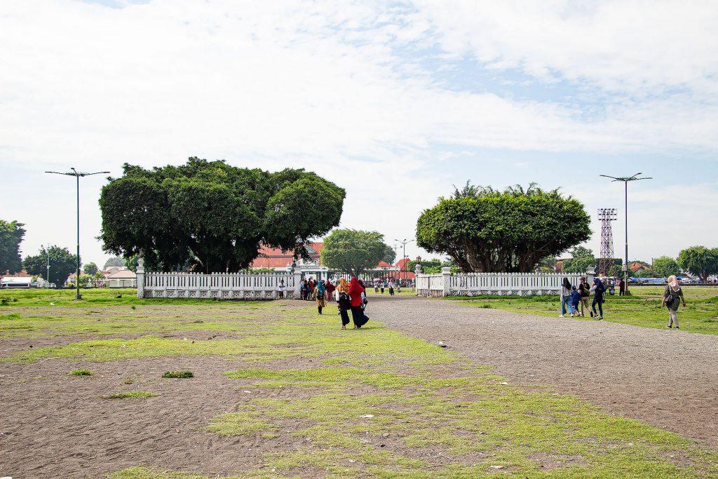 Alun Alun Utara Park in Yogjakarta