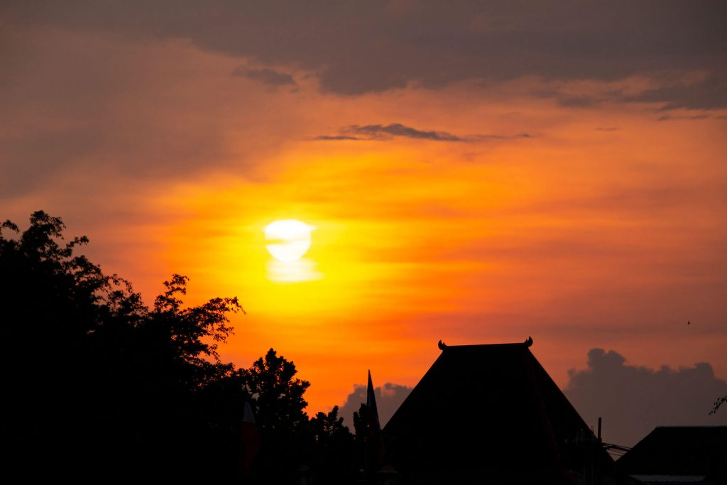 Sonnenuntergang in Yogjakarta