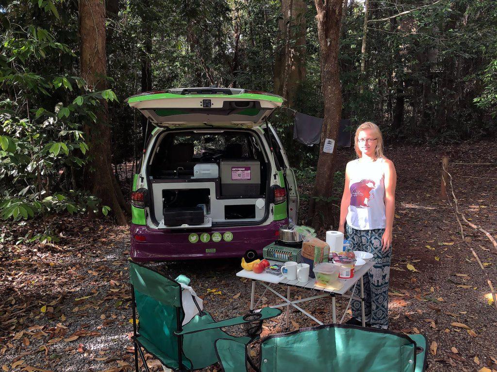Taschi in der Campsite
