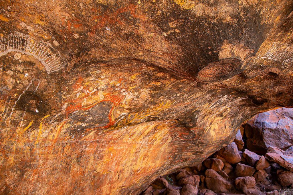 Felsmalerei am Uluru