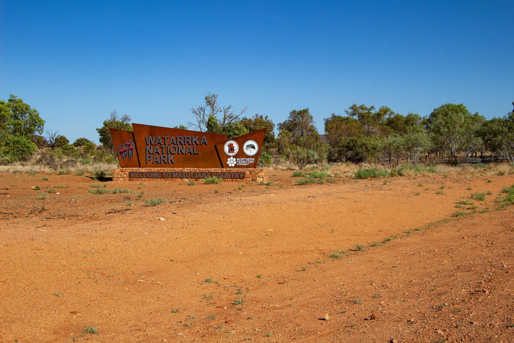 Eingangsschild zum Watarrka National Park