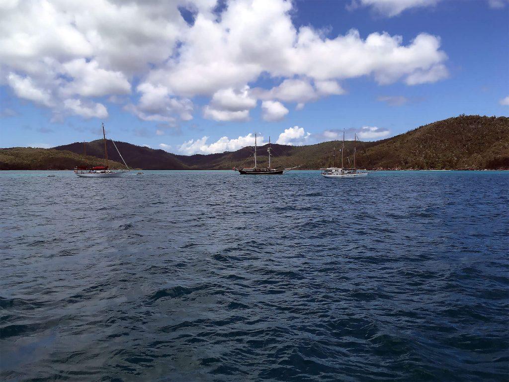 Segelboote bei den Whitsundays