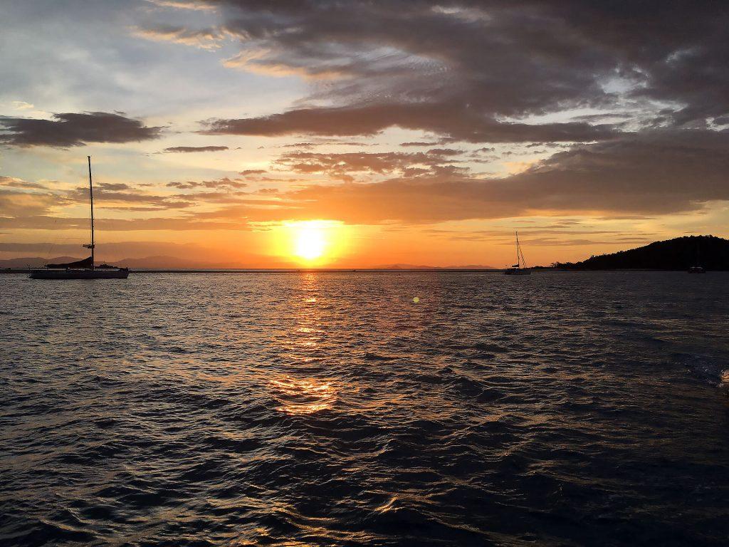 Sonnenuntergang bei den Whitsundays