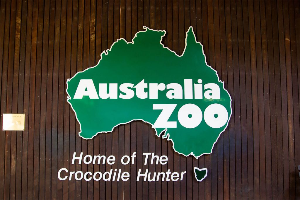 Australia Zoo Eingangsschild