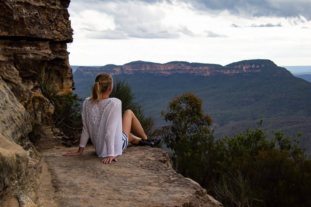 Larissa in den Blue Mountains