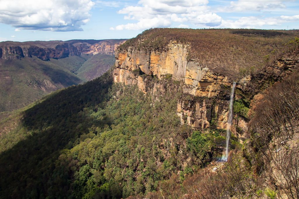Bridal Veil Falls in den Blue Mountains