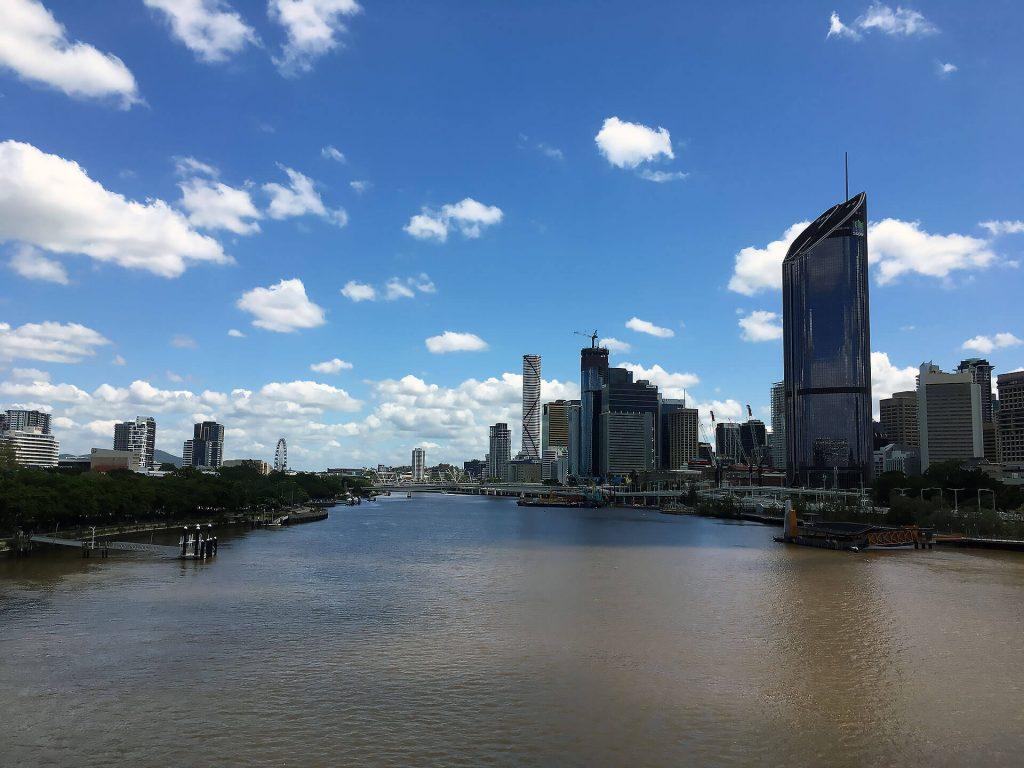 Innenstadt von Brisbane an der Ostküste